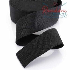 Lapos gumi fekete csillogó 5 cm 10 méter