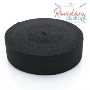 Gumiszalag 50 mm 25 méter fekete