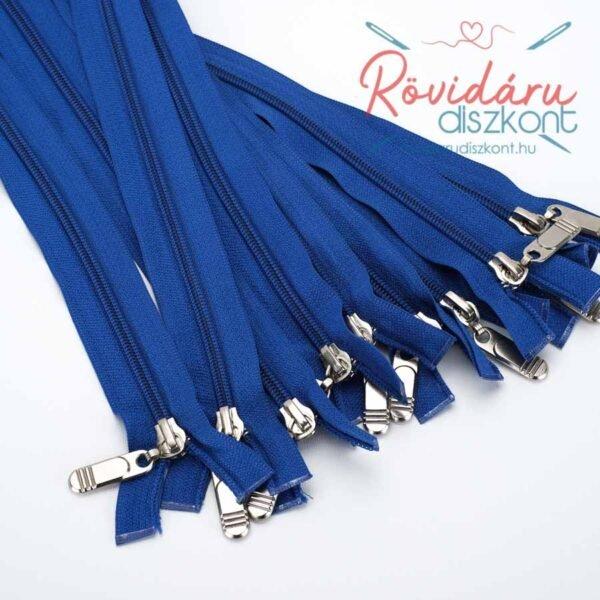 Cipzár bontható, kék, 65 cm, 10 db