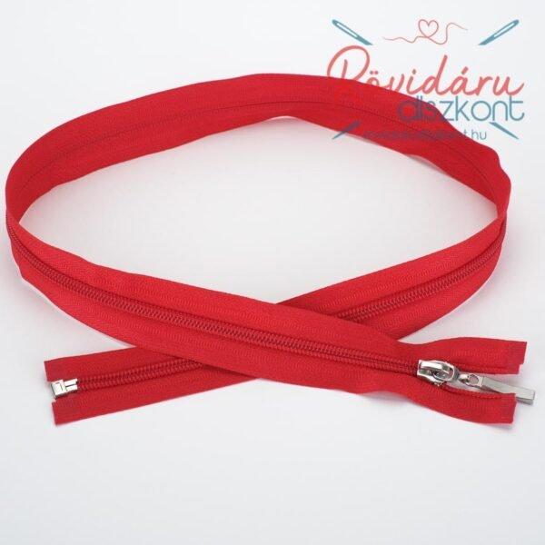 Cipzár bontható, piros, 75 cm