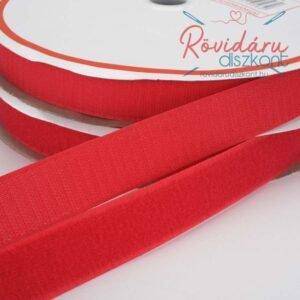 Tépőzár 25 méter párban piros 3 cm