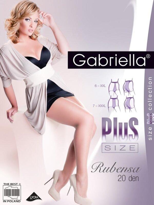 RUBENSA harisnyanadrág 20 den 3D Plus Size 6-os, 7-es