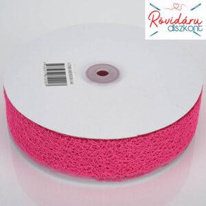 Dekorációs háló szalag 3,8 cm 45,7 méter pink