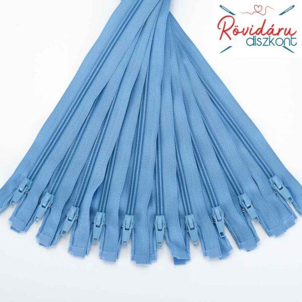 Cipzár bontható, kék (331), standard húzó, több méretben